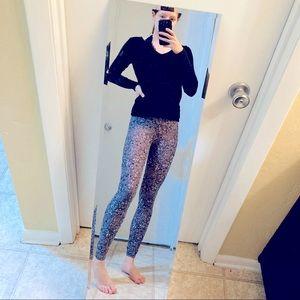 LuLaRoe Long Grey Patterned Leggings One Size
